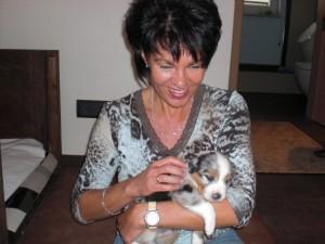 ... und Karin freut sich auch rießig auf den neuen Familienzuwachs